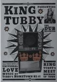 King Tubby Poster SILVER on High Quality A4 Card